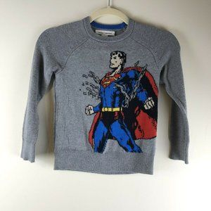 Baby Gap + Junk Food Gray Superman Sweater